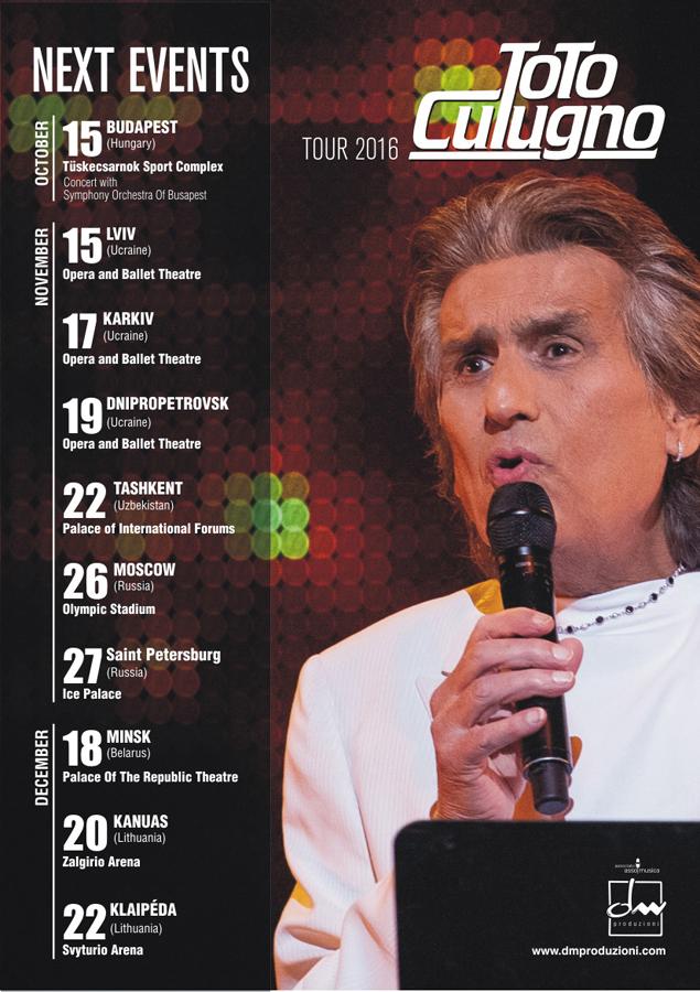 Next Events   Toto Cutugno