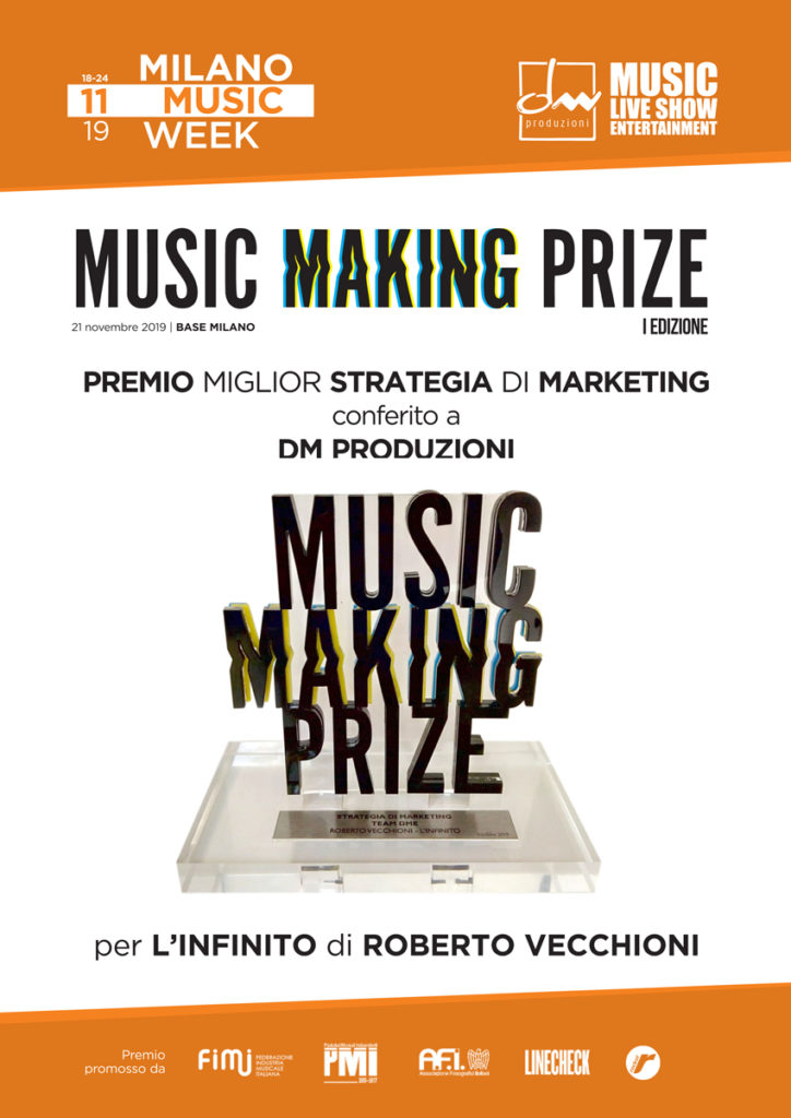 DM produzioni premiata al Music Making Prize